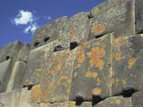 Inca Stonework, Terrace of the Ten Niches, Inca Fortress, Ollantaytambo, Peru, South America Photographic Print by Christopher Rennie