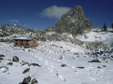 Austrian Hut on South East Face, Mount Kenya, UNESCO World Heritage Site, Kenya, East Africa Photographic Print by Jack Jackson