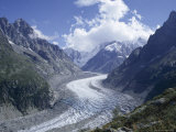La Mer De Glace Glacier, Chamonix, Savoie (Savoy), France Photographie par Michael Jenner