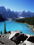 Moraine Lake, Valley of the Ten Peaks, Banff National Park, Rocky Mountains Impressão fotográfica por Hans Peter Merten