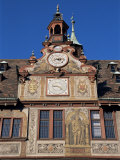 Detail of Town Hall, Tubingen, Baden-Wurttemberg, Germany Photographic Print by Hans Peter Merten