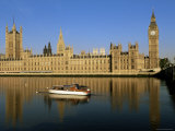 Houses of Parliament and Big Ben Reflected in the River Thames, Westminster, London, England Photographic Print by Lee Frost