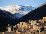 Berber Village in Ouarikt Valley, High Atlas Mountains, Morocco, North Africa, Africa Photographic Print by David Poole