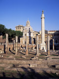 Trajan's Forum, Unesco World Heritage Site, Rome, Lazio, Italy Photographic Print by Hans Peter Merten