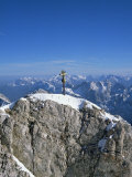 Zugspitze Peak 2963M, Highest Mountain in Germany, Bavaria, Germany Photographic Print by Hans Peter Merten