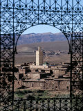 View of Telouet and High Atlas Mountains from the Kasbah, Telouet, Morocco, North Africa, Africa Photographic Print by David Poole