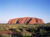 Uluru, Uluru-Kata Tjuta National Park, Unesco World Heritage Site, Northern Territory, Australia Photographic Print by Hans Peter Merten