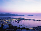 Evening View Over Mykonos, Cyclades, Greek Islands, Greece Photographic Print by Hans Peter Merten