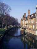 Mathematical Bridge, Queens' College, Cambridge, Cambridgeshire, England, United Kingdom Photographic Print by Michael Jenner