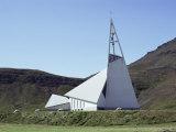 Church, Olafsuik, Iceland, Polar Regions Photographic Print by Jack Jackson