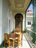 View Along Balcony at the Palacio De Valle, Cienfuegos, Cuba, West Indies, Central America Photographic Print by Lee Frost