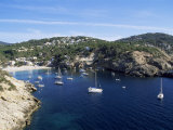 Cala Vedella, Ibiza, Balearic Islands, Spain, Mediterranean Photographic Print by Hans Peter Merten