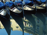 Gondolas and Reflections, Orseole, Near St. Mark's Square, Venice, Veneto, Italy Photographic Print by Lee Frost