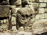 Mayan Carved Stone Skull on Top of East Court, Dating from 8th Century, Copan, Honduras Photographic Print by Christopher Rennie