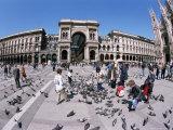 Piazza Del Duomo, Milan, Italy Photographic Print by Hans Peter Merten