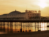Brighton Pier at Sunset, Brighton, East Sussex, England, United Kingdom Photographic Print by Lee Frost