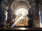 Interior of the Cathedral, Begun in 1560 on the Site of the Inca Palace, Cuzco, Peru, South America Photographic Print by Christopher Rennie