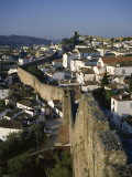 Walled Medieval Town, Traditional Wedding Gift of Kings to Queens, Obidos, Estremadura, Portugal Photographic Print by Christopher Rennie