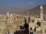 Skyline of the Old Town, Sana&#39;A, Unesco World Heritage Site, Yemen, Middle East Photographic Print by Jack Jackson