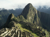 Lost City of the Incas at Dawn, Machu Picchu, Unesco World Heritage Site, Peru, South America Photographic Print by Christopher Rennie