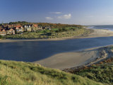 Village of Alnmouth with River Aln Flowing into the North Sea, Near Alnwick, England Photographic Print by Lee Frost