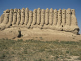 Fluted Clay Wall of Kyzkala Palace, Merv, Unesco World Heritage Site, Turkmenistan Photographic Print by David Poole