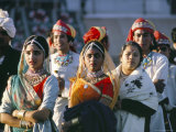 Festival Dancers, Delhi, India Photographic Print by Jack Jackson