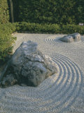 Raked Stone Garden, Taizo-In Temple, Kyoto, Honshu, Japan Photographie par Michael Jenner