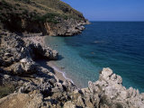 Rocky Coast, Island of Sicily, Italy, Mediterranean Photographic Print by Julian Pottage