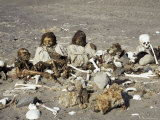 Human Remains Preserved Over 500 Years, Chauchilla Cemetery, Nazca, Peru, South America Photographic Print by Christopher Rennie