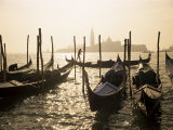 View Towards San Giorgio Maggiore, and Gondolas, Venice, Veneto, Italy Photographic Print by Lee Frost