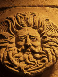Romano-Celtic Gorgon's Head, Roman Baths, Bath, Avon, England, United Kingdom Photographic Print by Michael Jenner