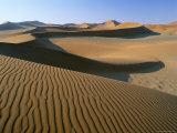 Sand Dunes, Dune Sea, Sesriem, Namib Naukluft Park, Namibia, Africa Photographic Print by Lee Frost