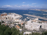 View Over Airport and Europort, Gibraltar, Mediterranean Lámina fotográfica por Michael Jenner