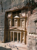 The Treasury (Khaznat Far&#39;Oun), Dating from the 1st Century Bc, at End of Siq, Petra Photographic Print by Christopher Rennie