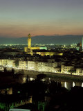 City Skyline at Night, Florence, Tuscany, Italy Photographic Print by Lee Frost