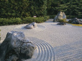 Raked Stone Garden, Taizo-In Temple, Kyoto, Japan Photographie par Michael Jenner