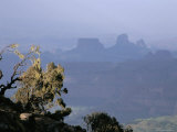 Mountain Scenery, Simien Mountains National Park, UNESCO World Heritage Site, Ethiopia Photographic Print by David Poole