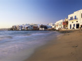 Little Venice, Mykonos Town, Island of Mykonos, Cyclades, Greece Photographic Print by Lee Frost
