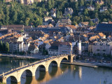 Old Town, Old Bridge and River Neckar, Heidelberg, Baden-Wurttemberg, Germany Photographic Print by Hans Peter Merten