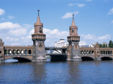 Oberbaum Bridge and River Spree, Berlin, Germany Photographic Print by Hans Peter Merten