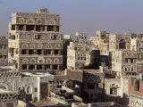Skyline of the Old Town, Sana'A, Unesco World Heritage Site, Yemen, Middle East Photographic Print by Jack Jackson