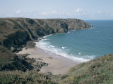 Plemont Bay from Clifftop, Greve Aulancon, Jersey, Channel Islands, United Kingdom Photographic Print by Julian Pottage
