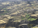 Aerial View of Inca Terraces, Colca Canyon, Chivay, Peru, South America Photographic Print by Christopher Rennie