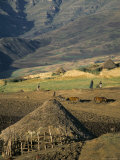Debirichwa Village in Early Morning, Simien Mountains National Park, Ethiopia Photographic Print by David Poole