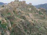 Mountain Fortress Village and Terraced Fields, Shahara, Yemen, Arabia, Middle East Photographic Print by Jack Jackson