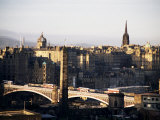View of City from Calton Hill, Edinburgh, Lothian, Scotland, United Kingdom Photographic Print by Michael Jenner