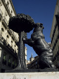 Statue of a Bear, Emblem of Madrid, Plaza Puerto Del Sol, Madrid, Spain Photographic Print by Christopher Rennie