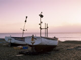 Boats and Beach at Dawn, Aldeburgh, Suffolk, England, United Kingdom Photographic Print by Lee Frost