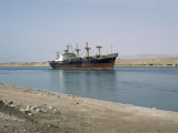 Northbound Ship, Suez Canal, Egypt, North Africa, Africa Photographic Print by Jack Jackson